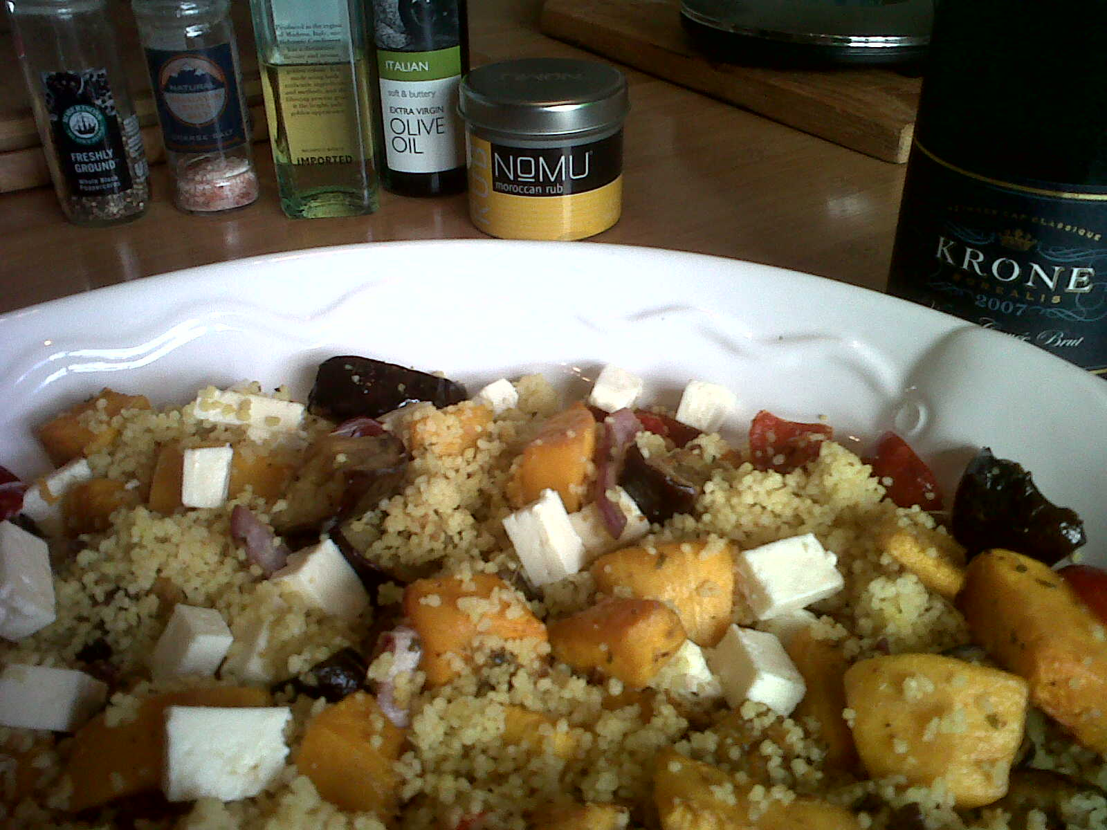 Roasted Butternut and Aubergine Couscous Salad