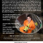 Jenny Morris goes to jail to raise funds for The Sunflower Fund