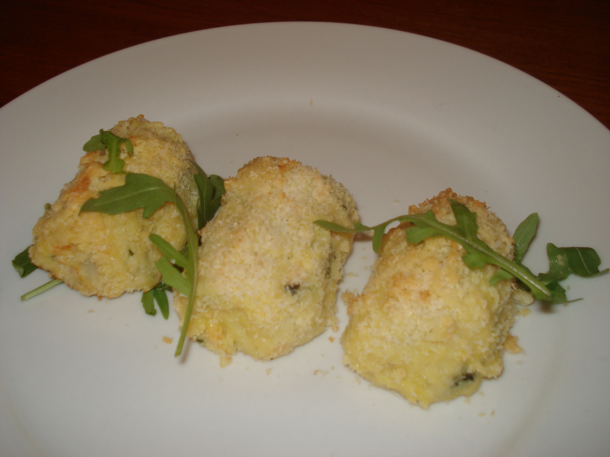 Hot Potato Blogger Challenge Recipe: Baked Smoked Salmon Trout and Courgette Croquettes