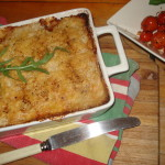 Hot Potato Blogger Challenge Recipe: Potato and Bacon Bake topped with Parmesan Mash